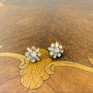 J.Crew | Faux Diamond Stud Earrings